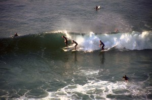 Surfing near St Agnes